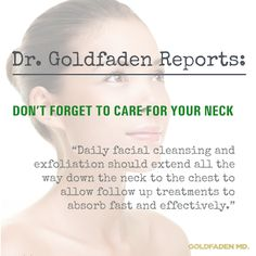 Don't forget to care for your neck #DrGoldfaden #reports #tips #expert #antiaging