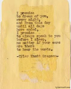 Typewriter Series #266 by Tyler Knott Gregson