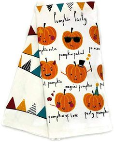 Set Of 2 Dog Puppy Pumpkin Jack o Lantern Terry Kitchen Dish Hand Tea Bar Towels