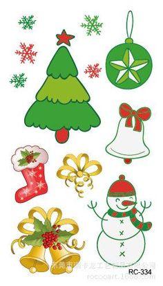 Waterproof Temporary Tattoo Santa Claus Christmas tree gift fake snow tatto flash tatoo fake tattoos for kids girl child 4