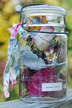 Yearly seasonal jars, love this idea! I am starting this year!