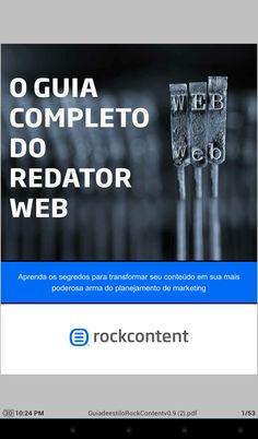 Ebook da Rockcontent voltado para os iniciantes, dicas interessantes de redação web para quem está começando.