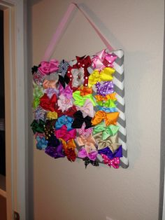 Used a canvas $1 fabric and ribbon with a staple gun to creat this. So simple