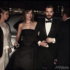 Dakota Johnson & Jamie Dornan arriving at the amFAR gala in Milan.