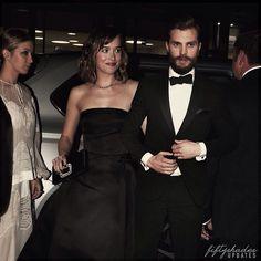 Dakota Johnson & Jamie Dornan arriving at the amFAR gala in Milan.
