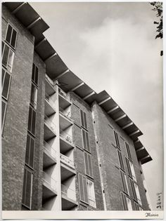 Casa per impiegati Borsalino ad Alessandria, 1948 - 1952: Ignazio Gardella - Immagine dell'Archivio Storico Gardella ©, Milano