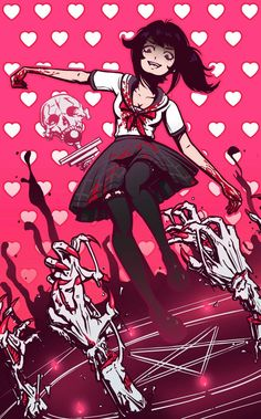 Image shared by Killer Queen. Find images and videos about yandere, senpai and yandere simulator on We Heart It - the app to get lost in what you love. Yandere Girl, Yandere Anime, Animes Yandere, Manga Anime, Anime Art, Yandere Simulator Fan Art, Yandere Simulator Characters, Mirai Nikki, Sword Art Online