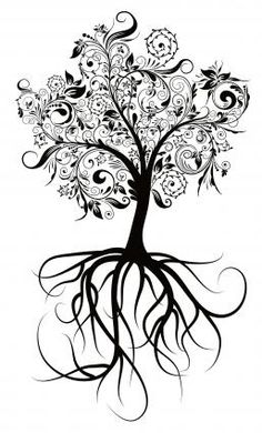 Baum-Muster für Tattoos