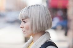 Blunt bob short hair with bangs,  Go To www.likegossip.com to get more Gossip News!