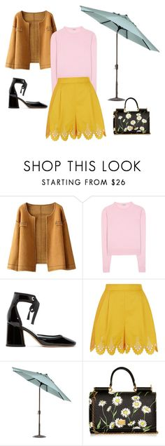 """""""summer spring"""" by devin-10 on Polyvore featuring Miu Miu, Marc Jacobs, Temperley London, Home Decorators Collection and Dolce&Gabbana"""