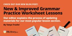 ESL Library - Grammar Practice Worksheets for English learners