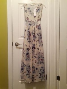 NWT Butterfly Maxi Dress