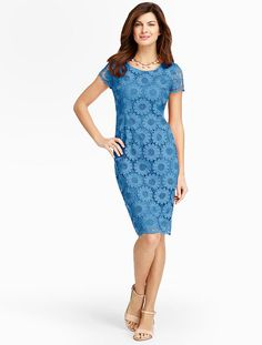 Talbots - Sunflower Lace Sheath | Occasion | Misses