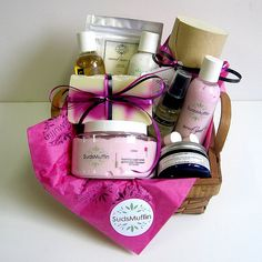 This $100 gift basket is going to be drawn as part of our Christmas Open House in two weeks. Includes coconut bath salts, chocolate cake bath bombs, sweet spot lotion, utter nonsense lotion, satsuma shower gel, whipped shea butter, time traveller facial serum, sweet spot foaming sugar scrub, candy cane soap, and two lip balms. Mr Suds just made some chocolate votives that I might include as well.