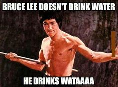 Bruce Lee. I found this entirely too amusing.