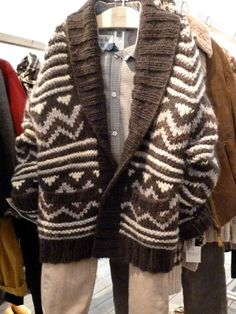 Great chunky patterned handknit for kids fashion from Bonpoint for winter 2012