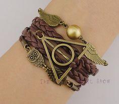 Harry Potter charm infinity bracelet