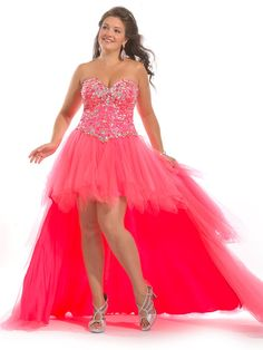 A-line Sweetheart Sleeveless Tulle Plus Size Prom Dresses/Evening Dresses With Rhinestone #FK854