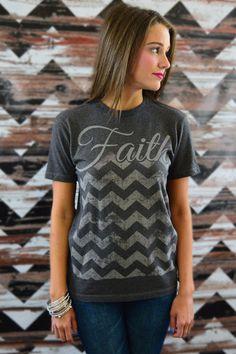 Faith Chevron Tee – The ZigZag Stripe