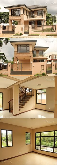 2 Storey Modern Asian Designed House with 4 Bedrooms House Design 2 Store. - 2 Storey Modern Asian Designed House with 4 Bedrooms House Design 2 Storey Modern Asian Desi - Two Story House Design, 2 Storey House Design, Duplex House Design, Small House Design, Modern House Design, Home Design, Small Home Interior Design, Two Storey House Plans, Design Ideas