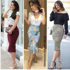 """2,356 Likes, 36 Comments - Princesas fashion (@princesasfashionoficial) on Instagram: """"Três looks maravilhosos ❤ Qual vcs preferem 1,2 ou 3? #princesafashionoficial #modaevangelica…"""""""