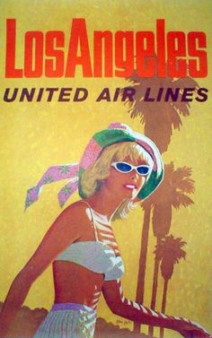Los Angeles - United Air Lines poster