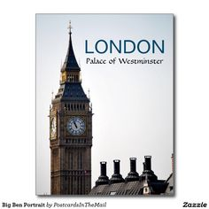 Big Ben Portrait Postcard
