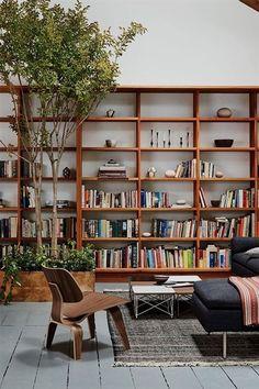 Home Library Design, Home Office Design, House Design, Cozy Home Library, Home Library Rooms, Bookshelf Design, Living Room Bookshelves, Floor To Ceiling Bookshelves, Bookshelf Wall