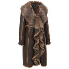 Plus Size Fabulous Furs Long Cascade FauxFur Coat (37.625 RUB) ❤ liked on Polyvore featuring plus size women's fashion, plus size clothing, plus size outerwear, plus size coats, coats, plus size, long coat, fake fur coats, brown faux fur coat and longline coat