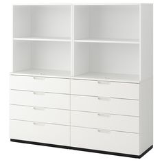 IKEA - GALANT, Storage combination with drawers, white, Integrated damper closes the drawer silently and gently. Read about the terms in the warranty brochure. Add-on fittings are included. Craft Room Storage, Craft Storage Cabinets, Ikea Craft Room, Craft Cabinet, Craft Rooms, Organizing Sewing Rooms, Ikea Office Storage, Craft Storage Drawers, Craft Storage Furniture