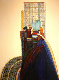 """""""Apartment Hill,"""" by Wayne Thiebaud"""