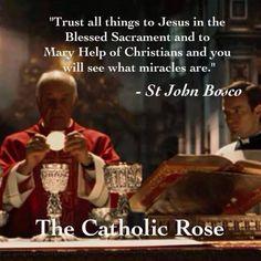 What blessings we have as Catholics! Catholic Religion, Catholic Quotes, Catholic Prayers, Catholic Saints, Roman Catholic, St John Bosco, Sisters In Christ, Saint Quotes, Divine Mercy