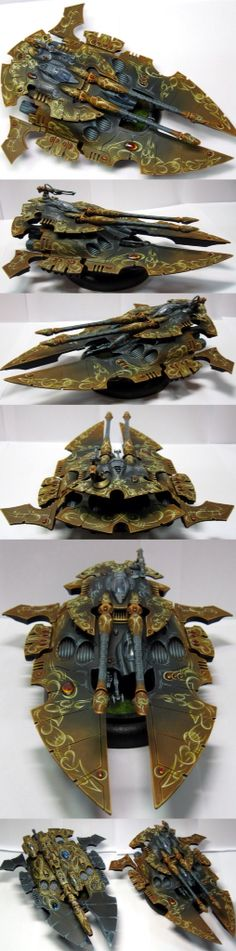 Eldar Scorpion type II super heavy grav tank ( my painting )