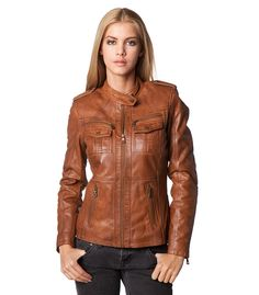 Jilani collection leather jacket Claudia