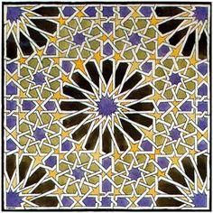 Mural Mosaic in The Alhambra -Artist: M.C. Escher Completion Date: 1922 Style: Op Art Genre: tessellation
