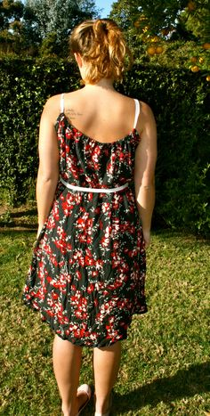 DIY Dress from Thrifted Skirt | niftythriftygoodwill