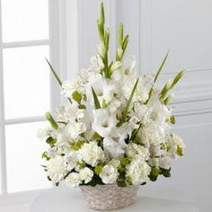 The FTD® Eternal Affection™ Arrangement Basket Flower Arrangements, Funeral Floral Arrangements, Altar Flowers, Shade Flowers, Beautiful Flower Arrangements, Wedding Flowers, Flowers Vase, Purple Flowers, Funeral Bouquet