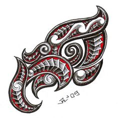 my friend gave me a little education about Taniwha - river dwelling water dragon, last time i drew maori dragon . this is just head, maybe i& do sometime the rest of the body.