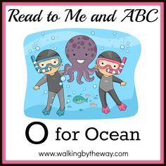 Illustration of an Underwater Scene Featuring Kids Posing with an Octopus Letter O Activities, Letter Games, Ocean Activities, Tot School, School Days, Blue Fingers, Book Baskets, Letter Of The Week, Ocean Scenes