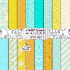 Spring Days Digital Paper Pack Set of 16  by DigitalDesignsGalore, $3.99