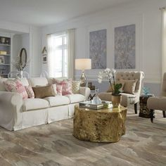 Shaw's classico plank - giallo resilient vinyl flooring is the modern choice for beautiful & durable floors. Wide variety of patterns & colors, in plank flooring & floor tiles. Bedroom Furniture Placement, Vinyl Plank Flooring, Hardwood Floors, Vinyl Planks, Tile Flooring, Bathroom Flooring, Luxury Vinyl Plank, Living Room Remodel, Living Rooms
