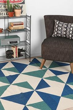 Urban -- Assembly Home Rotating Triangle Rug  Love the colors and design