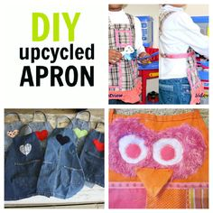 How do your kids cover up (or not) when you're getting messy? 15 Apron Ideas for kids, including some easy DIY apron projects...
