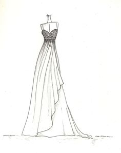 Vera Wang sketches of Kim Kardashian's wedding gown. Description from pinterest.com. I searched for this on bing.com/images