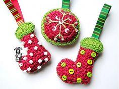 crochet christmas ornaments by my favourite crochet designer Vendulka M