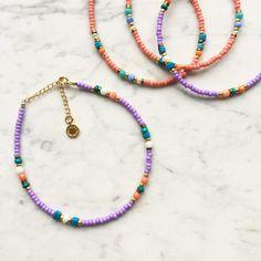 Surf Necklace, Summer Necklace, Diy Necklace, Diy Bracelets Easy, Handmade Bracelets, Beaded Bracelets, Diy Jewelry Projects, Jewelry Crafts, Jewelry Patterns