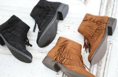 Short Fringe Ankle Boot | 2 Colors | Jane