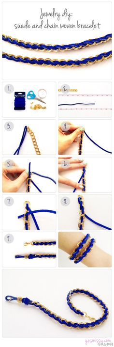 手工编织手链, Handmade Jewellery ,jewelry , Homemade Accessories , Fashion, DIY, Cool Teen Crafts necklace, tut, tutorial, how to, girls , woven chain bracelet