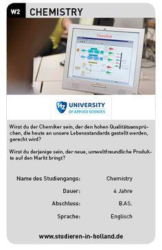 Studiere Chemie an der HZ University of Applied Sciences! Infos zum Studiengang gibt's auf www.studieren-in-holland.de
