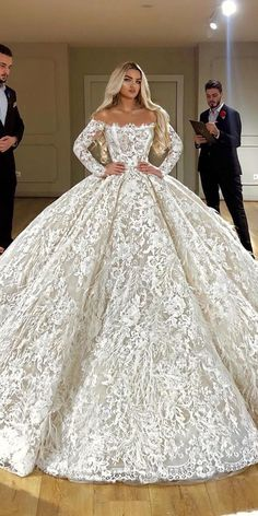 best wedding dresses ball gown off the shoulder with long sleeves full lace vald. - best wedding dresses ball gown off the shoulder with long sleeves full lace valdrinsahitiofficial - Princess Wedding Dresses, Modest Wedding Dresses, Bridal Dresses, Wedding Gowns, Princess Ball Gowns, Bridesmaid Dresses, Ballgown Wedding Dress, Dubai Wedding Dress, Arabic Wedding Dresses